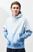 Champion Reverse Weave Tie Dye Ombre  Spellout blue Logo hoodie sweatshirt Large