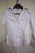 Express Design Studio Cotton & Nylon Blend French Striped Shirt Size - XS