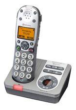 Amplicomms BigTel 280 Schnurlostelefon mit Anrufbeantworter silber
