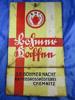 Uralt Kaffeerösterei Chemnitz J.F.Böhmer Blechschild Blechdose um 1930 coffee