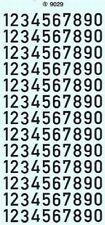 Zahlen 9 mm, schwarz