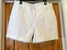 Croft & Barrow Cuffed Shorts White Size 16 Inseam 6 in.