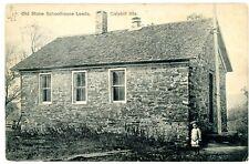 Leeds NY - CLOSE UP OF OLD SCHOOL HOUSE - Postcard Catskills