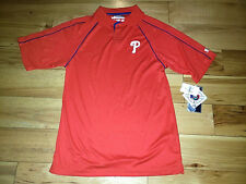 Mens MLB Genuine Merchandise Philadelphia Phillies Short Sleeve Polo Shirt Small