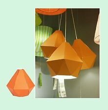 "IKEA Lamp Shade Orange JOXTORP Pendant Light 11""x13""Hack'Craft Project Cardboard"