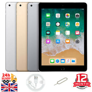"Apple iPad 5th Generation 32GB/128GB 9.7"" Retina WiFi, Cellular All Colours 2017"