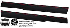 RED STITCH 2X TOP FRONT DOOR CAPPINGS LEATHER COVERS FITS MG MGB GT CLASSIC
