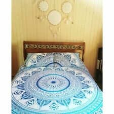 Indian Cotton Mandala Hippie Bohemian New Quilt 2 pillow Cover Duvet Doona