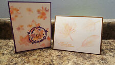 New listing 2 Handmade Stampin' Up! Thank You and All Occasion Fall Cards