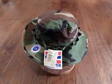 U.S MILITARY ISSUE HOT WEATHER BOONIE HAT WOODLAND CAMOUFLAGE RIP-STOP PROPPER