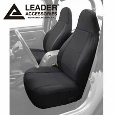 2 Front Seat Covers Combo Custom Fit 1997-2002 Jeep Wrangler TJ 2Dr Black