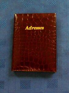 EXCELLENT & SUPERB BURGUNDY ADRESSES POCKET/HANDBAG BOOK (NEW)
