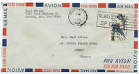 1967 20 cent Audubon airmail cover Austin TX to Athens Greece [1923]
