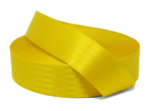 Yellow 11 Panel Polyester Webbing | Seat Belt Webbing 47mm | Soft and strong