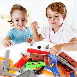 32PCS Kids Tools DIY Kit Pretend Play Mechanic Construction Toy Set Child Boy UK