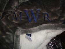 Pottery Barn Teen Super Soft throw 50 X 60 Gray mono MWR New wo tag