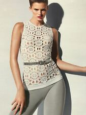 LADIES WOLFORD WHITE SOUSAN SLEEVELESS TOP SIZE S £170