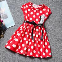 bébé enfants filles Mickey Minnie Mouse tutu soirée robe été mini jupe vêtements
