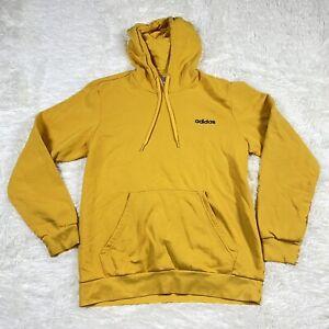 Men's Large Yellow Authentic Adidas Hoodie Sweatshirt Jacket Pullover Sweater