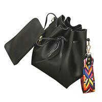 New Women Fashion Casual Wide Strape Bucket Shoulder Bags Stylist School Bag