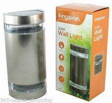 Stainless Steel Super Bright White LED Light Outdoor Solar Powered Garden Lights