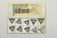 10 new SECO Carboloy TCMT 32.52-F2, (16T308-F2), S25M, .062 CR, Carbide Inserts