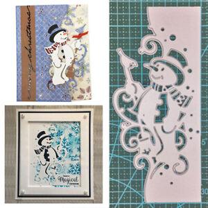 Christmas Snowman Metal Cutting Dies DIY Scrapbooking Embossing Card Craft