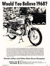1968 Jawa 250/350 Califormian II print ad - black/white, original 1967 CZ