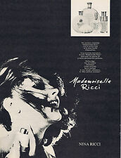 PUBLICITE ADVERTISING 094 1969 NINA RICCI Mademoiselle Ricci