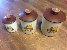 Set of 3 Vintage Retro Aluminum West Bend Merry Mushroom Canister Set