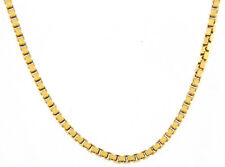 """Unisex 23"""" Box Link Chain 18kt Yellow Gold"""