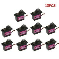 1/5/10Pc 4.8-6V MG90S Micro Metal Gear 9G Servo For RC Plane Helicopter Boat Car