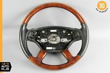 07-10 Mercedes W216 CL550 S550 Steering Wheel with Paddle Shifters Wood OEM