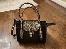 Michael Kors Ciara Medium Saffiano Leather Messenger Bag - Black/Silver