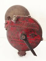Vtg antique Keystone railroad hand crank bench grinder sharpening tool cast iron