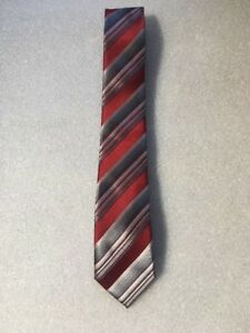 Dockers Boy's Striped Red/Grey Tie