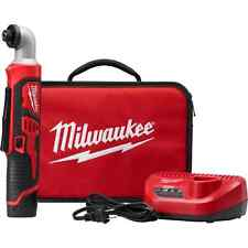 "NEW MILWAUKEE 2467-21 M12 1/4"" CORDLESS RIGHT ANGLE IMPACT DRIVER WRENCH KIT"