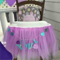 FJ- Lovely Glitter One Mermaid Shell Garland Banner First Birthday young person
