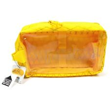 NWT Supreme NY Yellow Reflective Box Logo Print Clear Utility Bag FW18 AUTHENTIC