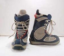 Mens Burton Breed Blue Gray Snowboard Boots Laces Size 8