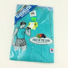 Vintage Shirt Fruit of the Loom Package Muscle Tee Sleeveless Men's S Pocket 80s