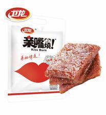 Weilong Chinese Specialty Snack food Latiao Burn Kiss 辣条亲嘴片豆干辣条零食小吃 卫龙亲嘴烧300g/袋