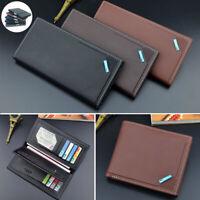 Men's Faux Leather Billfold Wallet Pocket Bifold Purse Clutch ID Credit Card
