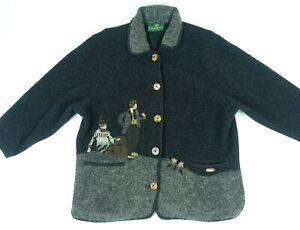Giesswein Wool jacket Austria Button Down Charcoal Gray EU 38