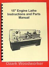 """JET/Asian 1550 15"""" Metal Lathe Operator's & Parts Manual 0388"""