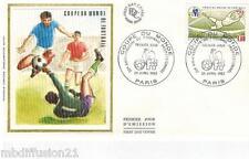 1982**ENVELOPPE SOIE**FDC 1°JOUR**COUPE DU MONDE-FOOTBALL**TIMBRE Y/T 2209