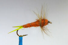 10 x Mouche peche Nymphe STONEFLY BROOKS ORANGE H8/10 fly fishing truite mosca