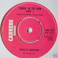 "SHEILA B DEVOUEMENT-Singin 'in the rain-EX 7"" Single"
