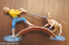 Statuina presepe vintage crib statue italy forse Isas '60 pastorello con vitello