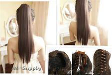 Haarteil Zopf Klammero&Clips Gummiband bis 180°formbar Haarverlängerung 50-55cm